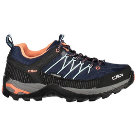 CMP Campagnolo Rigel Low WP Trekking Shoes Dam black blue-giada-peach